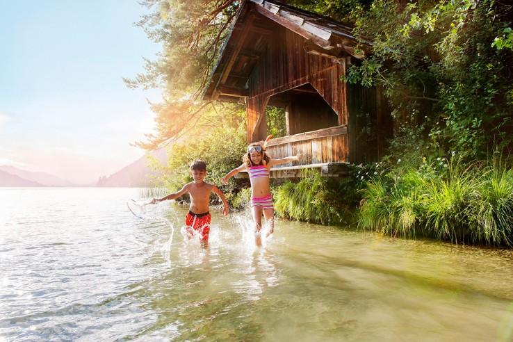 Fun im Wasser am Weissensee