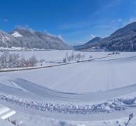 Gemütlicher Wintergarten mit Blick auf den Weissensee